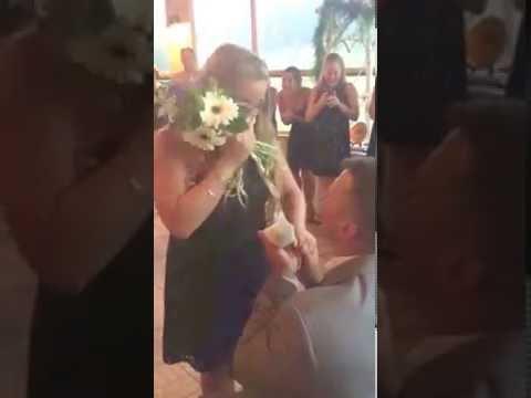 best-proposal-ever~💕-wedding-bouquet-toss-surprise-proposal