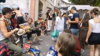 Tin can cello at Esperaza Market
