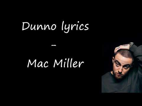 Dunno lyrics   Mac Miller (Swimming)