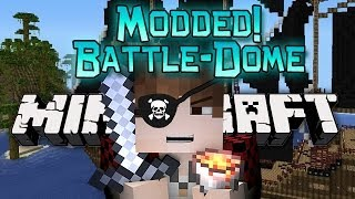 Minecraft: Modded BATTLE-DOME Part 2 w/Mitch - Pirate Ship Archimedes Mod! (Boats Mod)