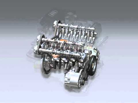 audi Q7-V8-FSI engine with timing chain