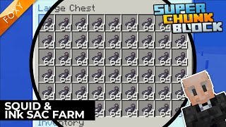 Squid & Ink Sac Farm | Super Chunk Block [4] | Minecraft Bedrock Edition 1.14 SMP