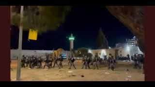 İsrail Askerleri Mescid-i Aksaya Girdi Filistin Kudüs #Mescidiaksa Jerusalem In Israel Füze Saldırı