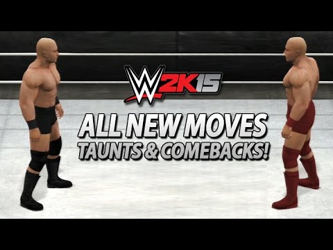 WWE 2K15: All New Moves, Taunts & Comebacks!