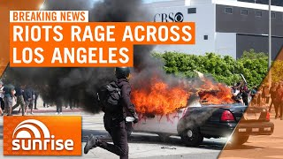 Chaotic scenes in Los Angeles as riots enter fifth day | 7NEWS