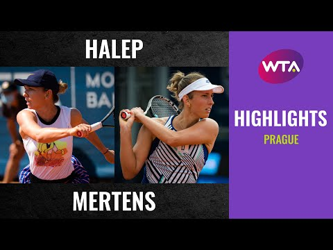 Simona Halep vs. Elise Mertens   2020 Prague Final   WTA Highlights