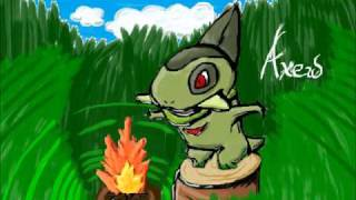 Axew Drawing! Mini dinosaurs FTW! :3