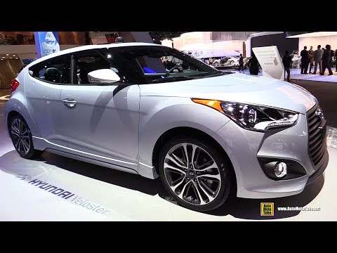 2017 Hyundai Veloster Turbo Exterior and Interior Walkaround 2017 Detroit Auto Show