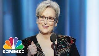 Meryl Streep Takes On Donald Trump At The Golden Globes | Squawk Box | CNBC