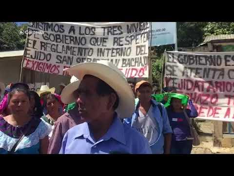 Reprimen manifestación de indígenas que se oponen a construcción de cuartel de la Guardia Nacional I