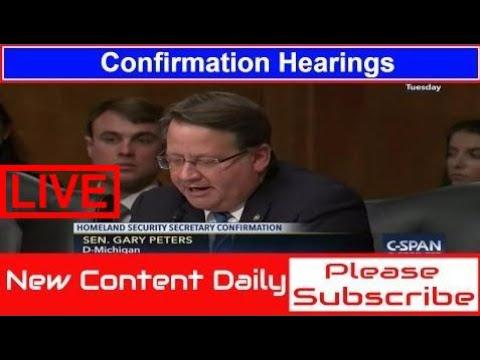Cspan | Se. Gary Peters questions Gen. John Kelly | Secretary of Homeland Security #KHV