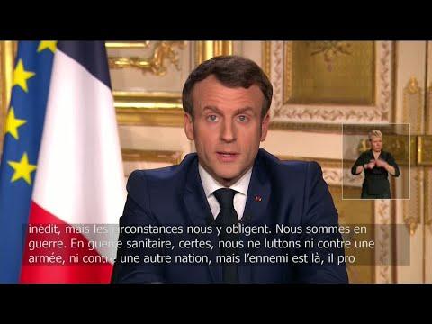 """Emmanuel Macron : """"Nous sommes en guerre"""" contre le coronavirus - Covid-19"""
