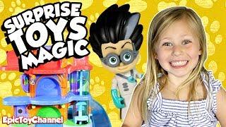 SURPRISE TOYS MAGIC PJ Masks Toys Taken by Romeo Paw Patrol & Blaze Save Day + Opening Surprise Eggs