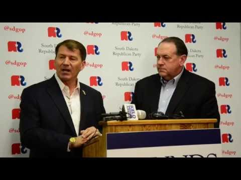 Mike Rounds Mike Huckabee Presser 10-17-14