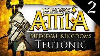 TEUTONIC ORDER SURROUNDED Medieval Kingdoms Total War Attila Teutonic Order Gameplay 2