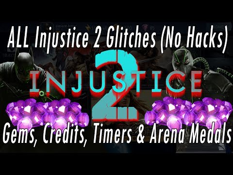 ALL Injustice 2 Glitches! Daily Free Gems Glitch! Credits/Arena Medals/Reset Timer Glitch! No Hacks!