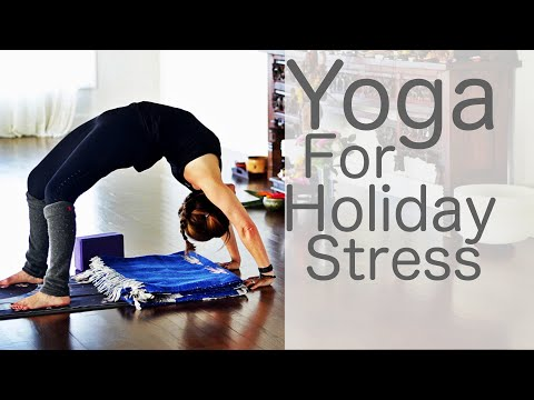 30 Minute Yoga for Holiday Stress With Fightmaster Yoga