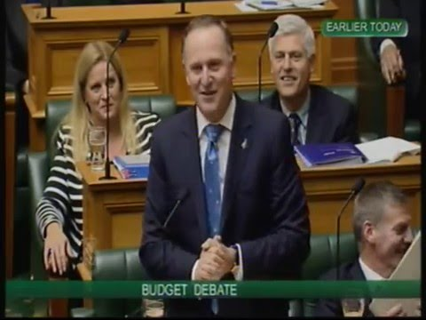 John Key Rips Labour A New One - Budget 2014 (Parliament TV - 15/05/2014)