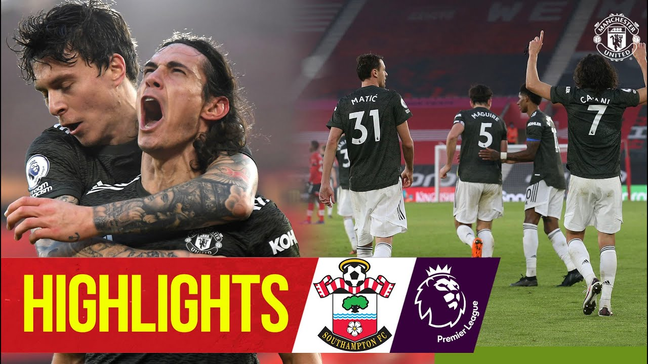 Download Cavani double seals comeback win for the Reds! | Southampton 2-3 Manchester United | Premier League