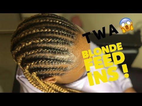 Honey Blonde Feed Ins Twa Youtube