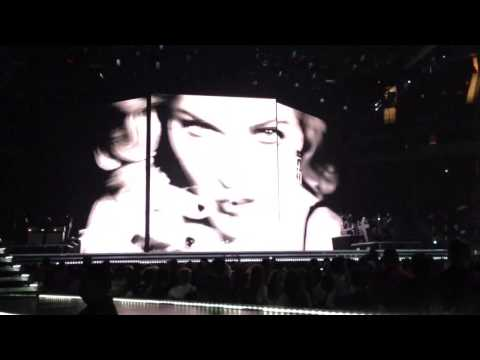 Madonna - Justify My Love Video, MDNA Tour, Houston TX 10/2