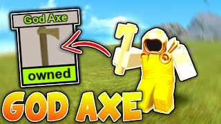 UNLOCKING THE GOD AXE!! (Roblox Booga Booga)
