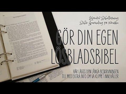 Gör Din Egen Lösbladsbibel I En Pärm Ta Tip Ins Till En Ny Nivå