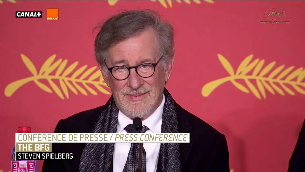 The Bfg Il Grande Gigante Gentile Press Conference Con Spielberg