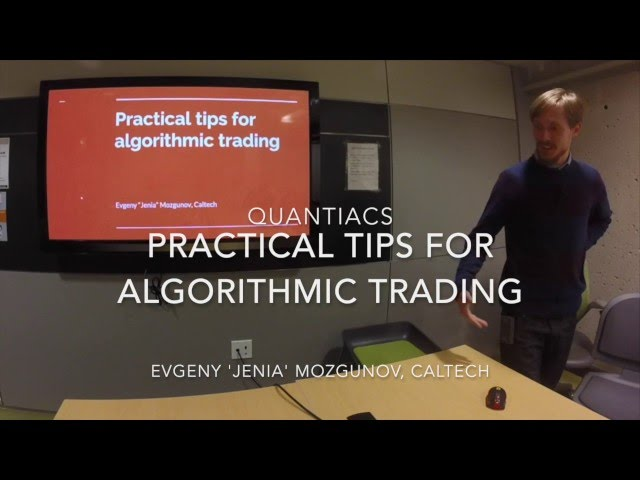Algorithmic Trading Tutorials -- Learn How To Code Trading