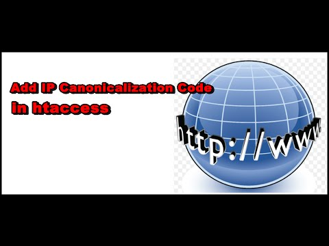 Tutorial How to Add IP Canonicalization Code in htaccess