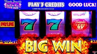 TRIPLE DOUBLE Sevens 3 Reel High Limit Slot Machine BIG WIN | RED Fortune Slot High Limit