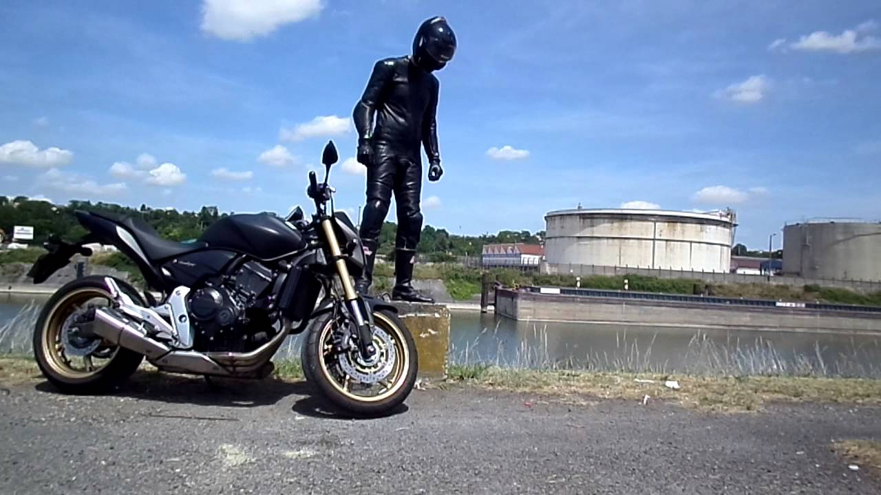 Biker With Helstons Ks 70 Leather Combi Youtube