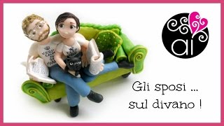 Wedding Cake Topper Tutorial | Gli sposi sul Divano | Polymer Clay | Fimo