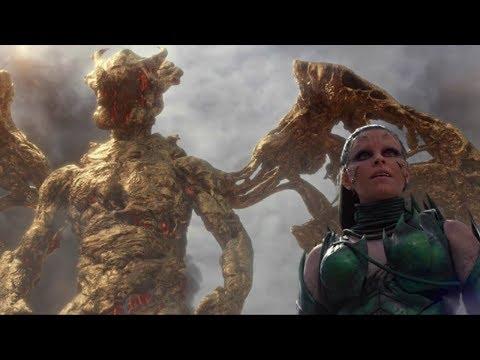 【扒界】美女召唤出一只怪兽,企图攻击地球,最后却被5个青少年打败了
