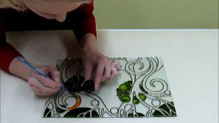 Роспись на стекле витражными красками!(Роспись на стекле витражными красками или декор стекла. Подробнее на сайте Витражи Киев: http://vitrazhi.kiev.ua/, 2014-01-20T18:31:35.000Z)