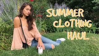Summer Clothing Haul + Try-ons 2016 | Jessica Clements