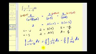 Integration Using Partial Fraction Decomposition Part 1