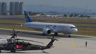 Прилет МС-21-300 в Стамбул для участия в TEKNOFEST 2019