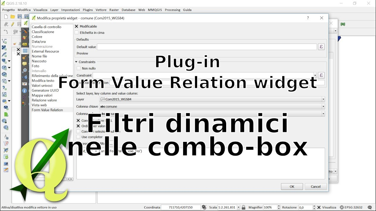 QGIS: Plug-in Form Value Relation