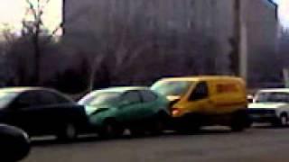 г  Николаев   авария из пяти машин 2