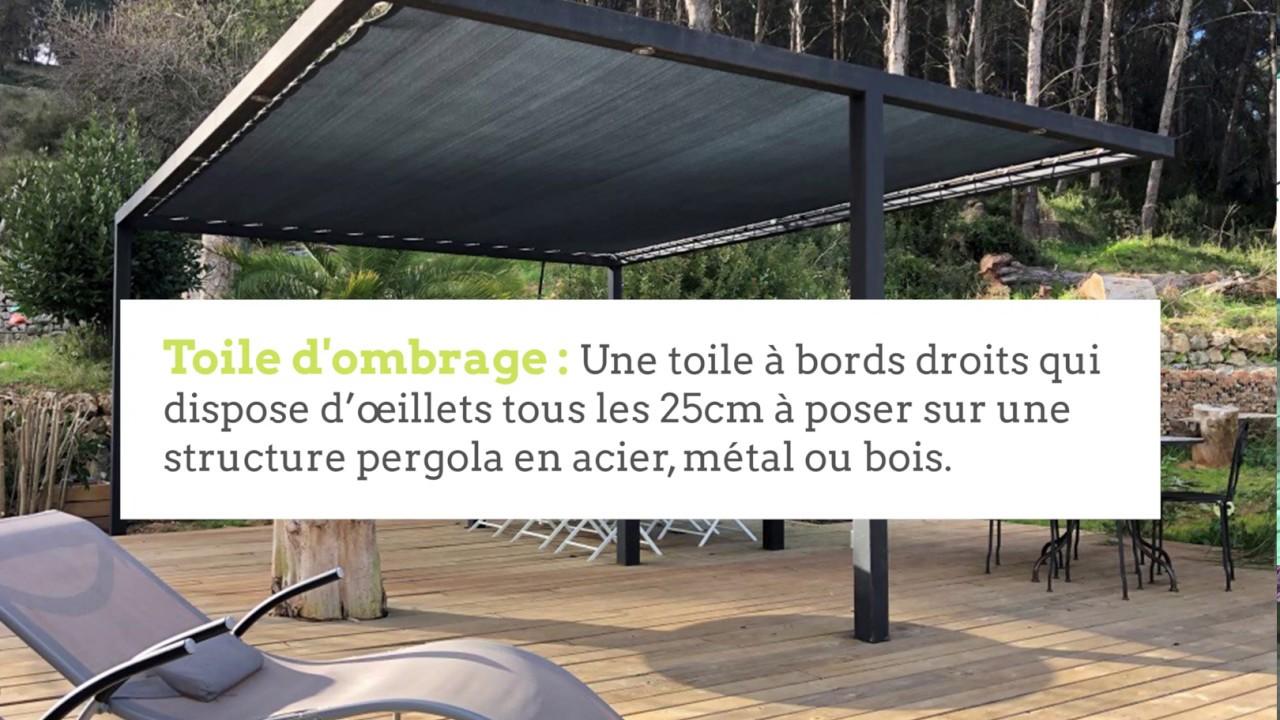 Toile d\'Ombrage Pergola Sur Mesure Imperméable (Eau & Vent)