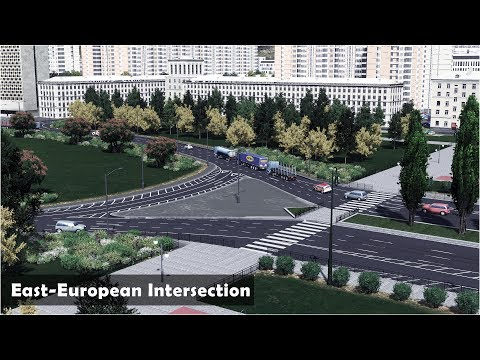 East-European Round Intersection and boulevard- Cities Skylines: Custom Builds