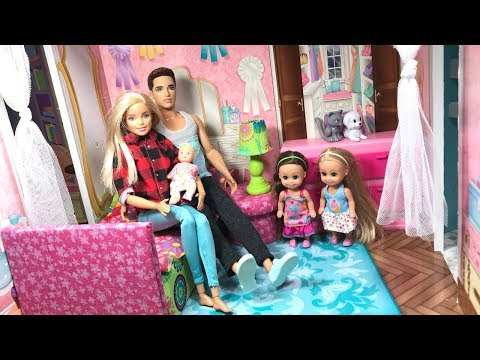 Barbie Family Morning Routine!!