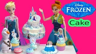 Queen Elsa Disney Frozen Whipple Princess Anna 2 Tiered BIRTHDAY CAKE Sweet Treats Craft Unboxing