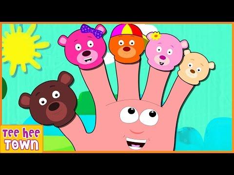 Finger Family Song   Bear Finger Family    Nursery Rhymes for Children by Teehee Town