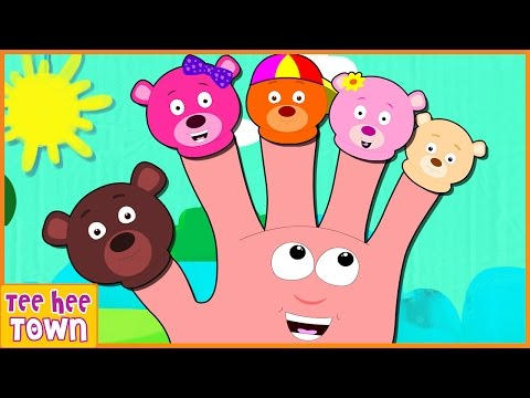 Finger Family Song | Bear Finger Family  | Nursery Rhymes for Children by Teehee Town