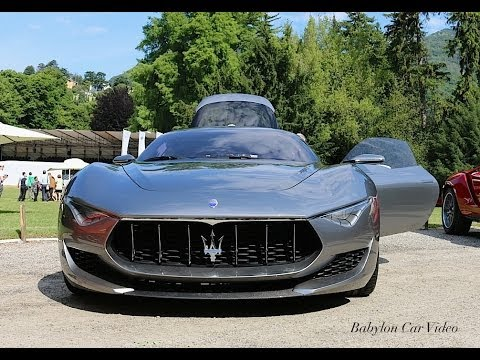 maserati alfieri concept start sound youtube. Black Bedroom Furniture Sets. Home Design Ideas