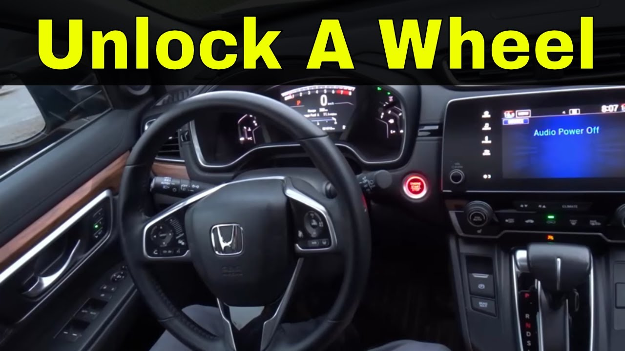 How To Unlock Steering Wheel >> How To Unlock A Push To Start Steering Wheel Driving Tutorial