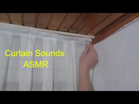 ASMR Tingles - How to Install Curtain? ~ Curtain Hanging, Slipping, Sliding | Relaxing with ASMR