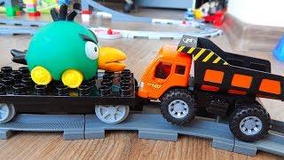 Машинки игрушки Лего Поезда мультики Город машинок 272: Перевозка. Мультики для детей про Машинки